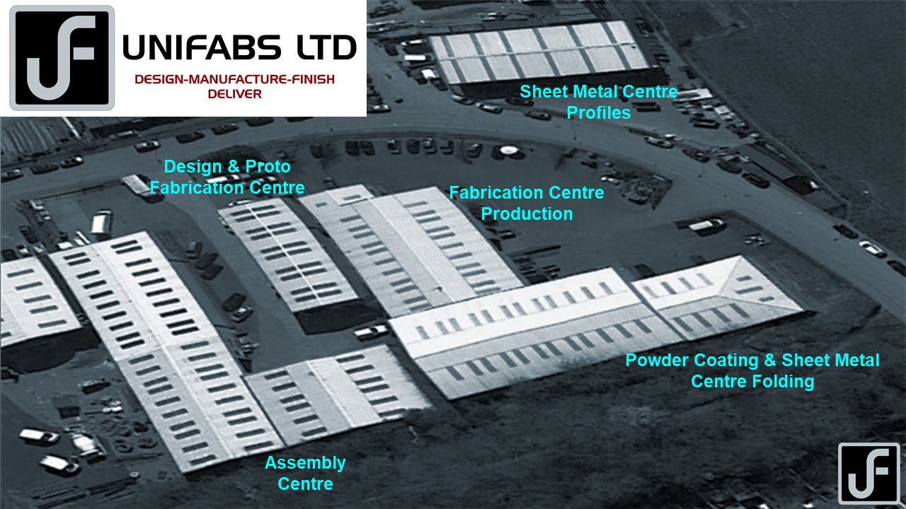 Unifabs sheet metal fabrication and powder coating facility